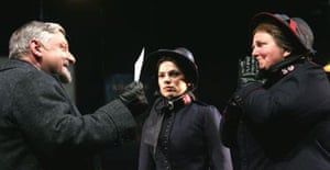 Simon Russell Beale, Hayley Atwell and Maggie McCarthy in Major Barbara
