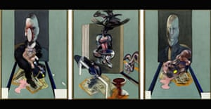 Triptych, 1976, by Francis Bacon