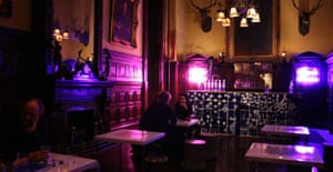 Eduardo Sarabia's bar in the Park Avenue Armory: Whitney Biennial 2008