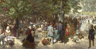 Detail from An Afternoon in the Tuileries Gardens (1867) by Adolph Menzel
