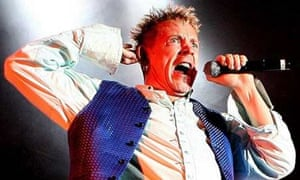 Sex Pistols frontman John Lydon on stage during a gig at the MEN Arena in Manchester, November 2007. Photograph: Martin Rickett/PA
