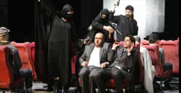 A dress rehearsal for The Satanic Verses at the Hans-Otto Theatre in Potsdam