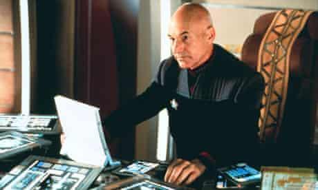 Patrick Stewart as Captain Picard in Star Trek: Insurrection