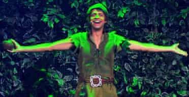 Miguel Antelo performing in Peter Pan el Musical