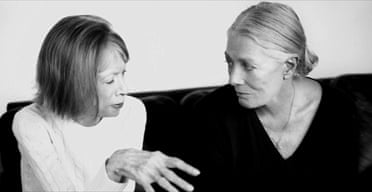 Joan Didion, left, with Vanessa Redgrave
