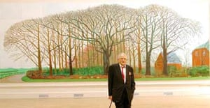 David Hockney, with his painting Bigger Trees Near Warter (2007)