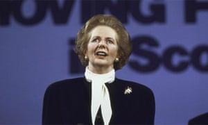 Margaret Thatcher in 1987. Photograph: Peter Jordan/Getty Images