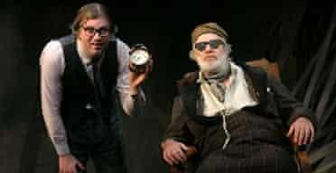 Matt Rixon and Matthew Kelly in  Endgame at the Everyman Theatre, Liverpool