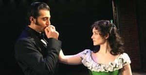 Jill Paice (Scarlett O'Hara) and Darius Danesh (Rhett Butler) in Gone With The Wind, New London Theatre