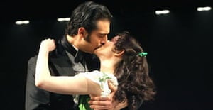 Darius Danesh (Rhett Butler) and Jill Paice (Scarlett O'Hara) in Gone With the Wind, New London Theatre