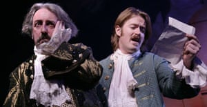 Kevin McMonagle as Arnolpe and John Keilty as Horace in Educating Agnes, Citizens, Glasgow