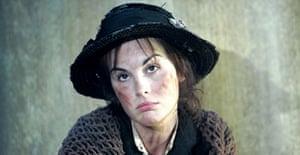 Michelle Dockery (Eliza Doolittle) in Pygmalion, Old Vic, London