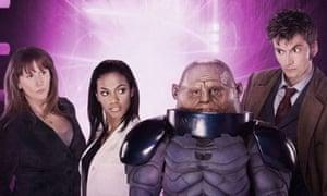 Donna, Martha and the Doctor meet Sontaran Commander Skorr