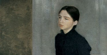 Portrait of a Young Girl by Vilhelm Hammershoi