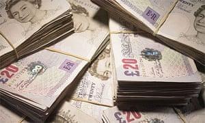 Twenty pound bank notes