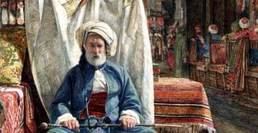 El Khan Khalil, Cairo  The Carpet Seller by John Frederick Lewis, 1860