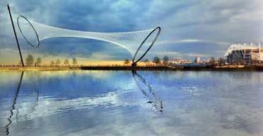 The launch of Temenos, an art installation by the artist Anish Kapoor, which is to be sited next to the Riverside Stadium on the Middlehaven development.