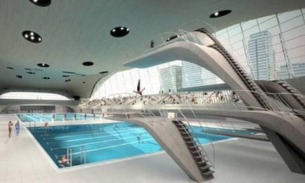 Zaha Hadid's Olympic aquatic centre - artist's impression