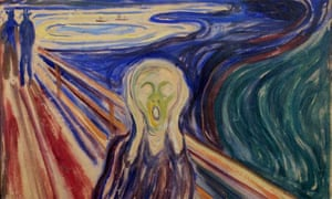 A detail from Edvard Munch's The Scream. Photograph: Solum, Stian Lysberg/AFP/Getty