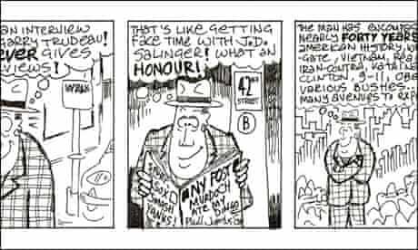 Phill Jupitus' Doonesbury-inspired cartoon strip