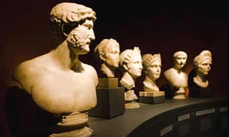 Sculptures in the Hadrian: Empire and Conflict exhibition at the British Museum in London