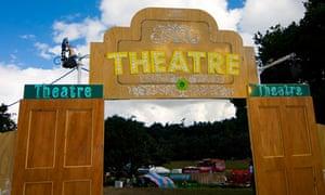Theatre area at Latitude festival 2008