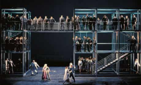 A scene from the 2001 Bayreuth production of Wagner's Gotterdammerung