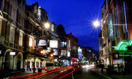London's Theatreland in the West End