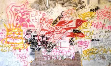Vintage graffiti art by Fab 5 Freddy, Futura 2000, Nesto, Ramellzee and Jean-Michel Basquiat in New York