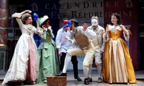 The cast of Liberty, Shakespeare's Globe, London