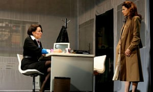 Elizabeth Marvel and Marisa Tomei in the Manhattan Theatre Club revival of Caryl Churchill's Top Girls