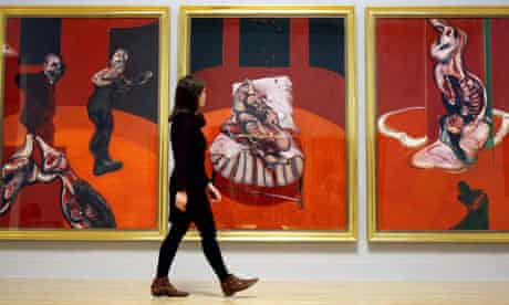 A visitor at Tate Britain's Francis Bacon exhibition