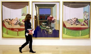 A visitor at Tate Britain's Francic Bacon exhibition