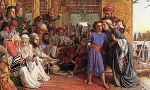 William Holman Hunt's The Finding of the Saviour in the Temple, 1854-5, 1856-60