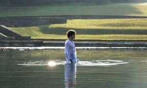 Mr Darcy in the lake in Lost in Austen