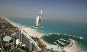 Burj al Arab hotel in Dubai, modern architecture