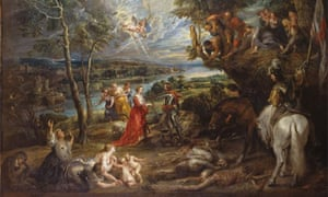 Rubens' Landscape with St George and the Dragon. Courtesy Windsor Royal Collection