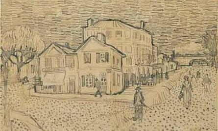 Van Gogh sketch on letter