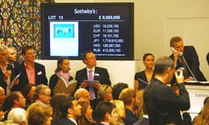Damien Hirst's Sotheby's auction in September 2008