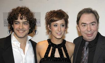 Lee Mead, Connie Fisher and Andrew Lloyd Webber at the 2008 Olivier awards