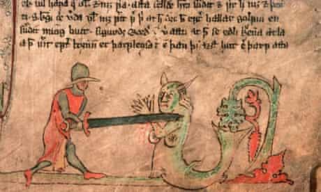 An illuminated 13th century Icelandic Saga manuscript