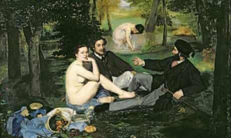 Le Dejeuner sur l'Herbe, 1863, by Manet