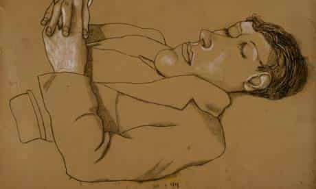 Early Lucian Freud, Man with Arms Folded