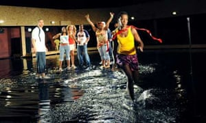 The cast of In the Red Brown Water at the Young Vic