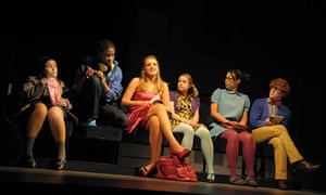 The cast of Proper Clever at the Playhouse, Liverpool