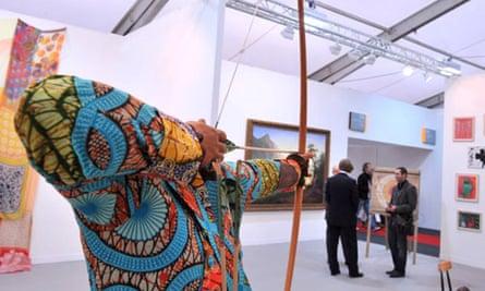 Yinka Shonibare's Sir Foster Cunliffe at Frieze art fair 2008