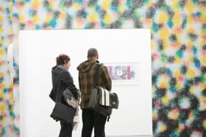 Visitors at Frieze art fair 2008