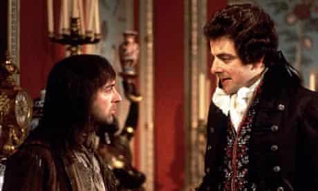 Baldrick (Tony Robinson) and Blackadder (Rowan Atkinson) in a scene from Blackadder the 3rd