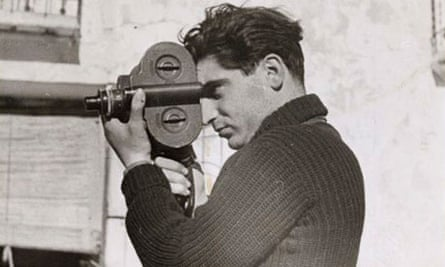 Photograph of Robert Capa taken by his lover and collaborator Gerda Taro in 1937