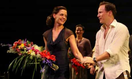 Katie Holmes and Patrick Wilson at the opening night of All My Sons on Broadway
